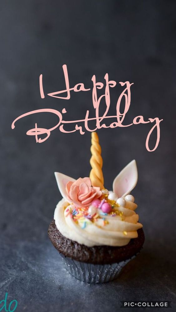 Happiest Birthday cupcake