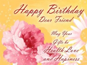 Birthday Wishes card For Friend