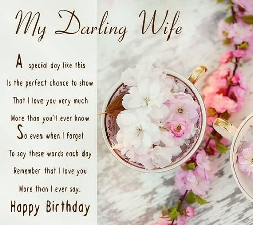 Happy Birthday to My Wife Poem