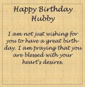 happy Birthday Hubby Wishes