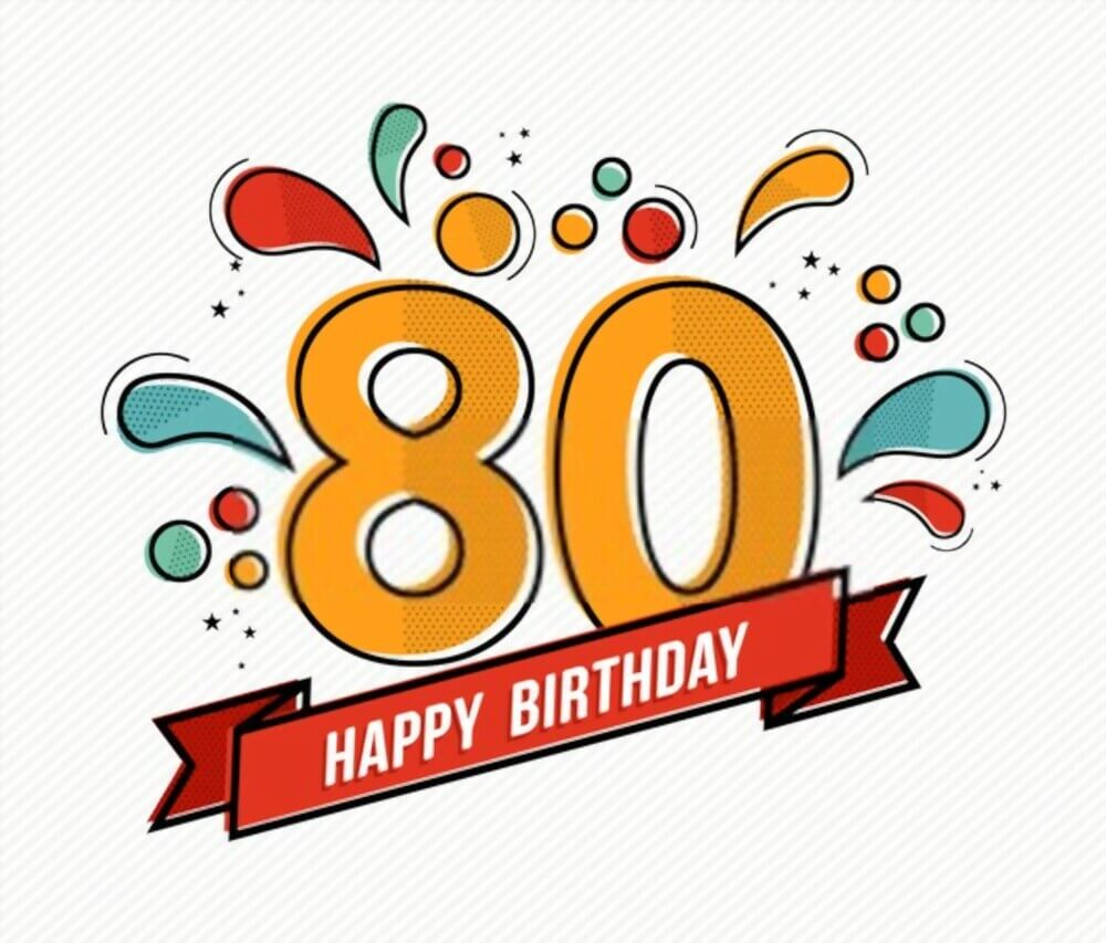happy 80th birthday banners