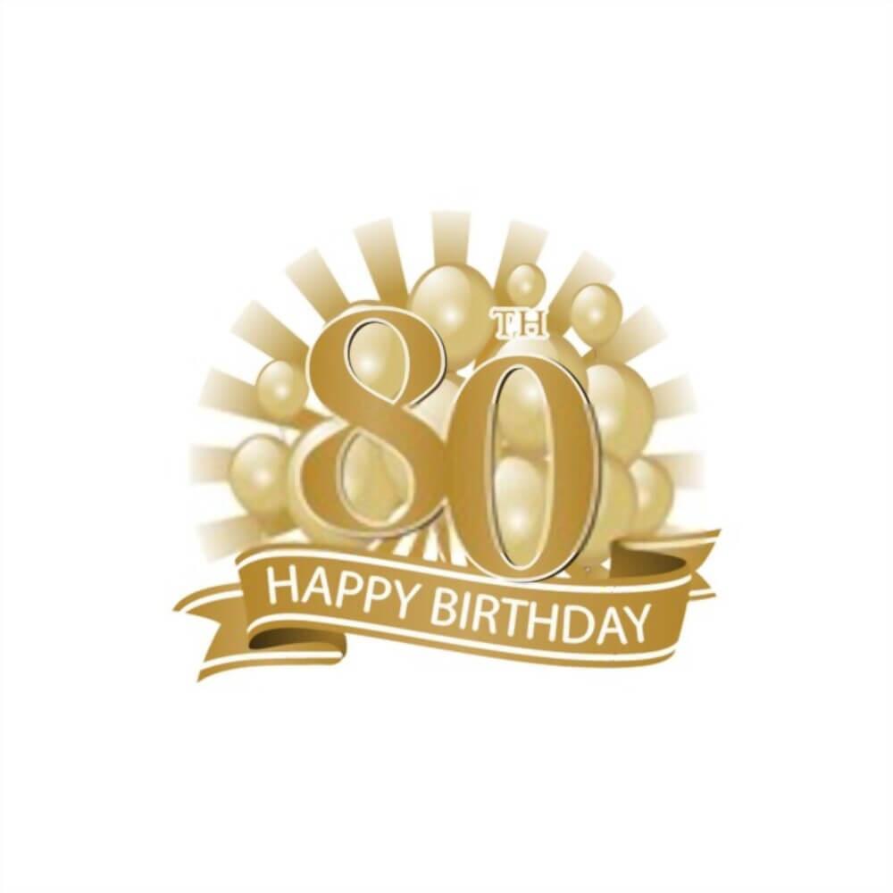 happy 80th birthday cake