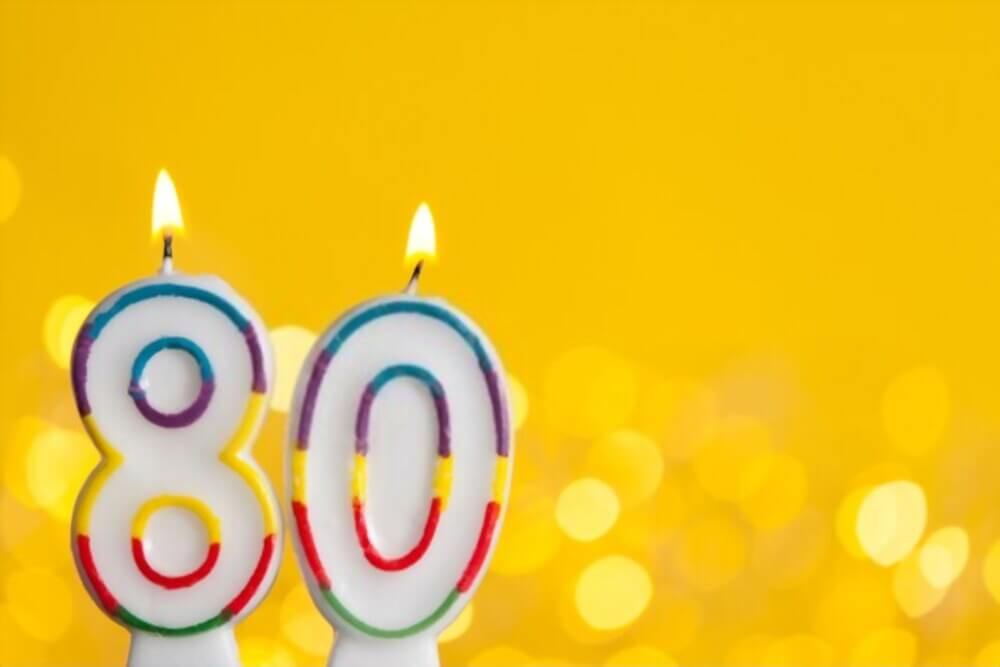 happy 80th birthday images