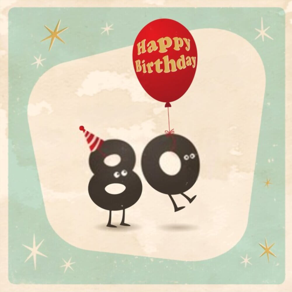 happy birthday 80th images