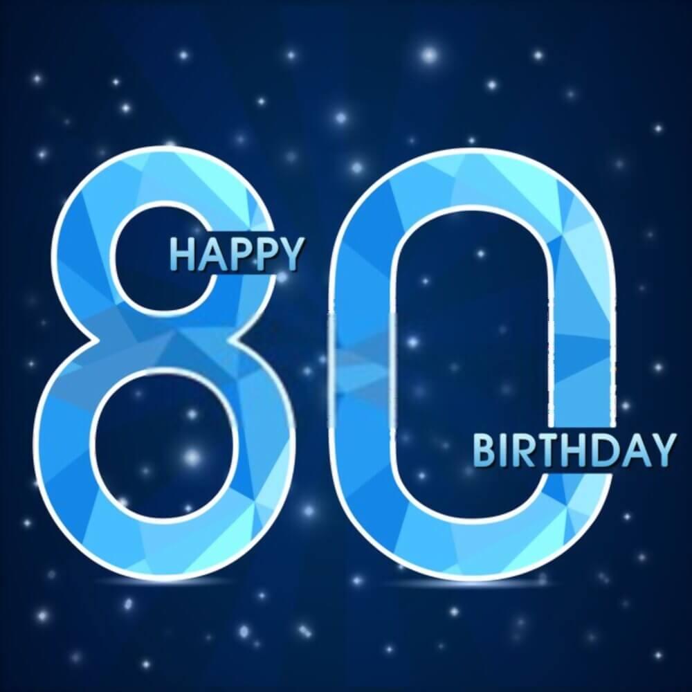 happy birthday 80th photos