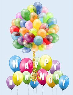 Happy birthday balloon image free download