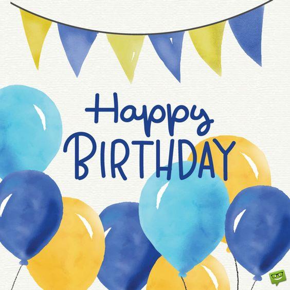 Happy birthday balloon image wishes