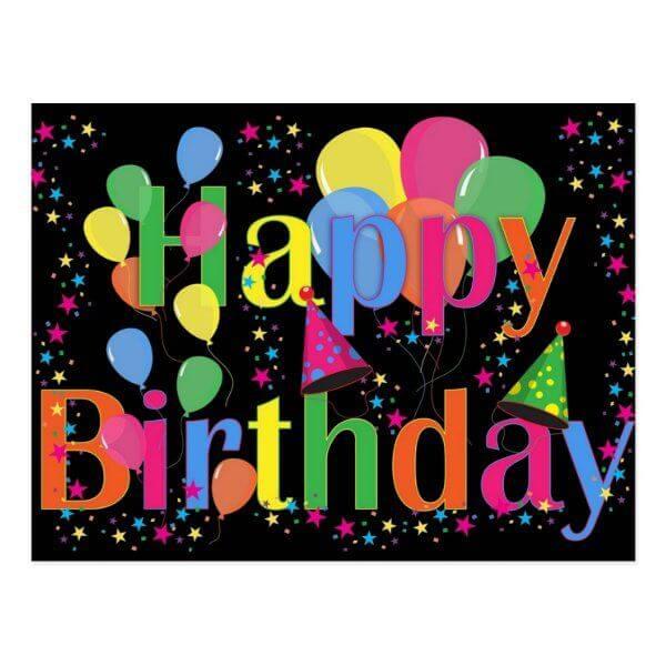 Happy birthday balloon image